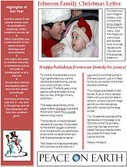 christmas letter ideas - template