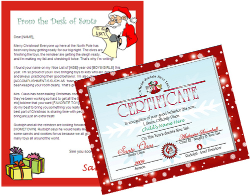 santa letter template - desk of santa claus