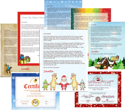 santa letter template complete package
