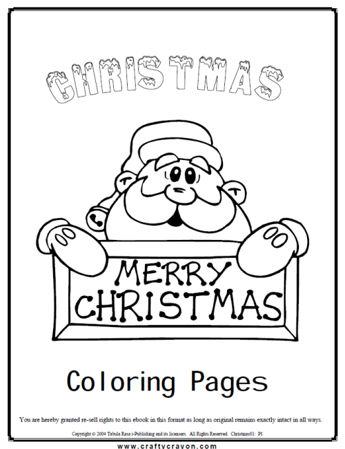 Christmas coloring book download