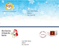 free santa letter envelopes with each santa letter template