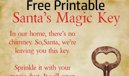 Create Your Own Magic Santa Key (Free Printable)
